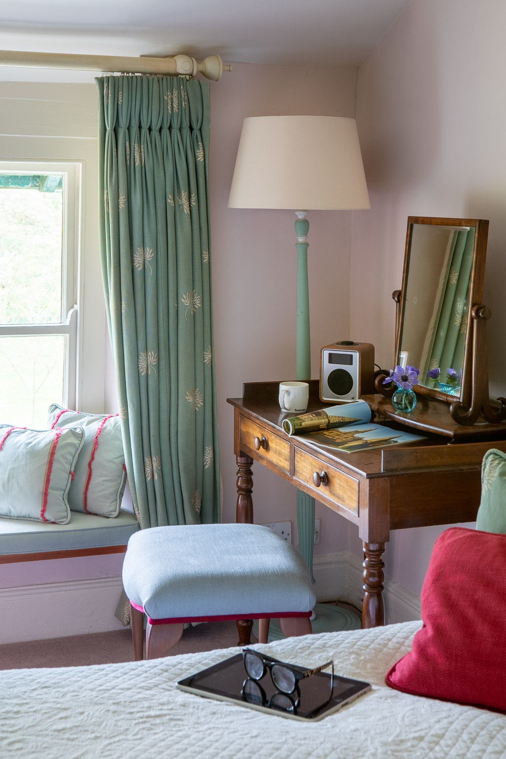 bedroom in country house and fishing hotel in wales
