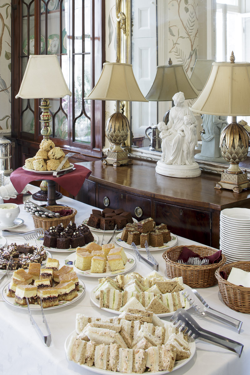 afternoon tea buffet at hotel in south wales