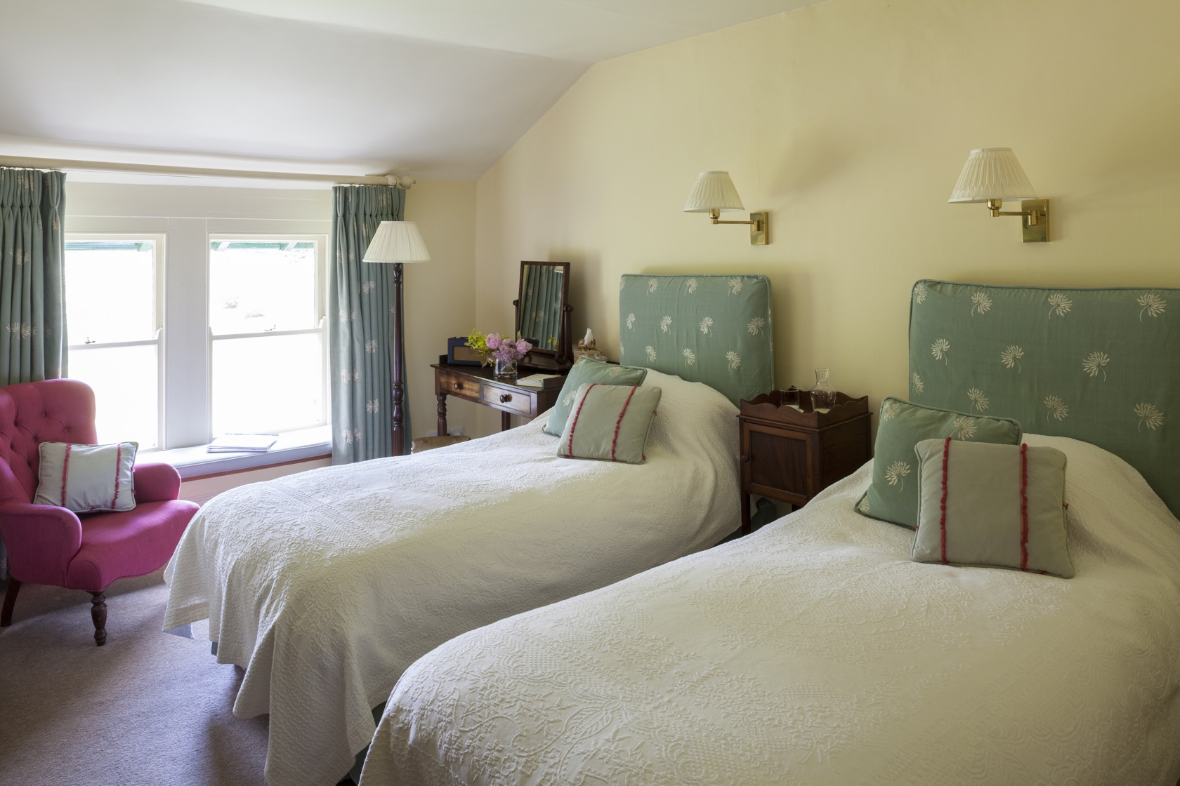 to show the size of country house hotel bedroom