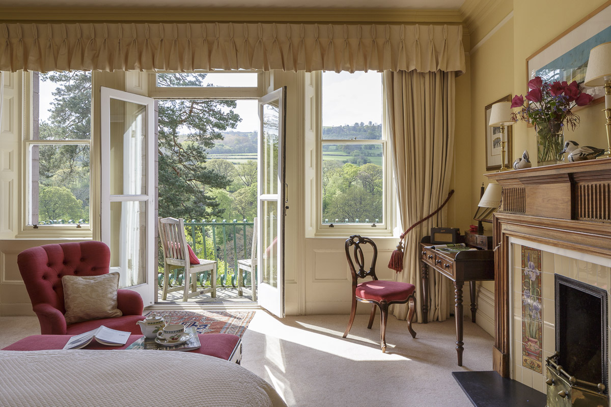 boutique hotel bedroom with river view south wales