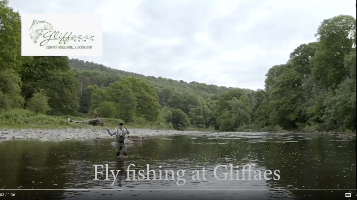video of fly fishing at gliffaes hotel on the usk