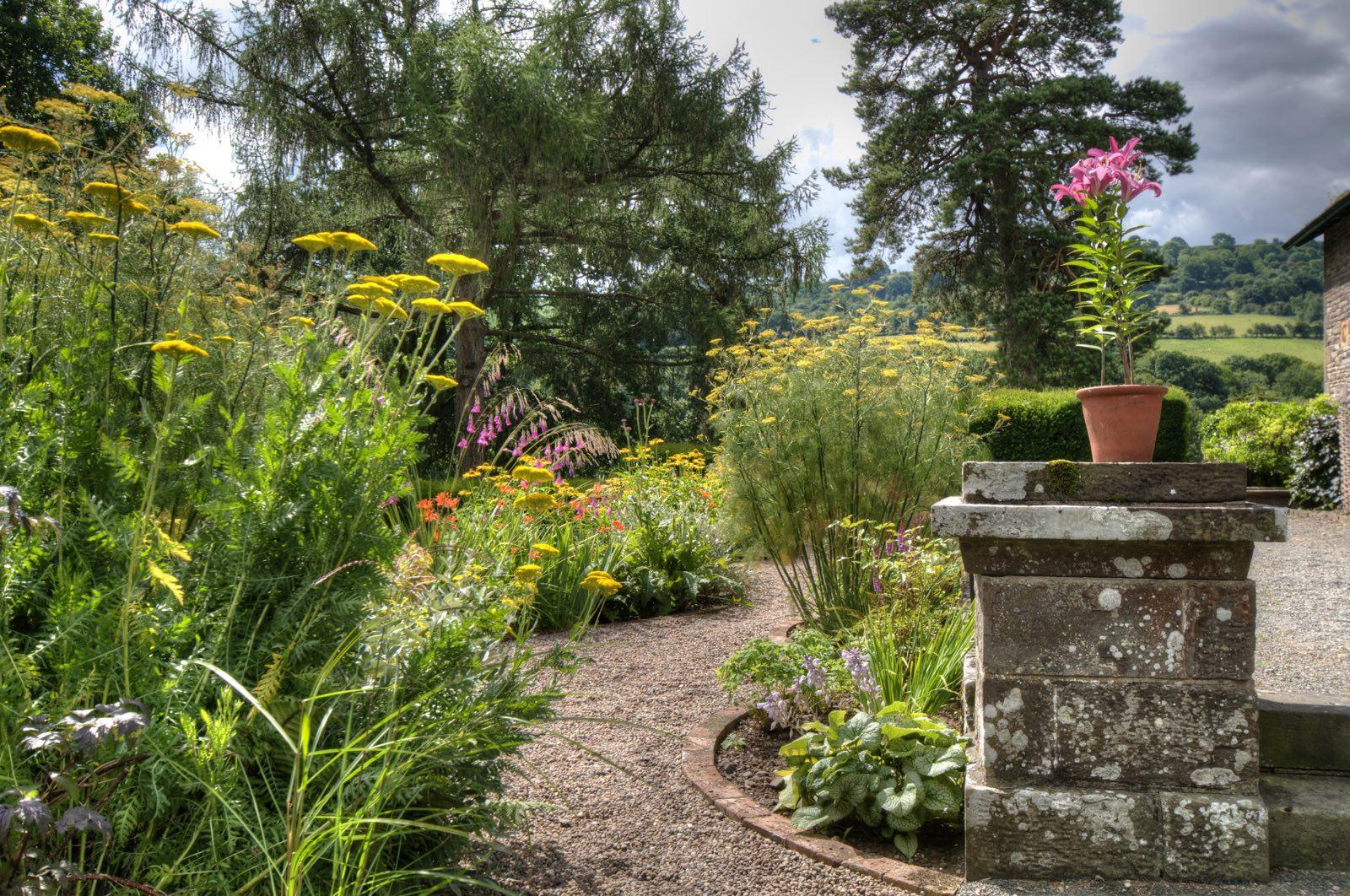 country house hotel near brecon garden view