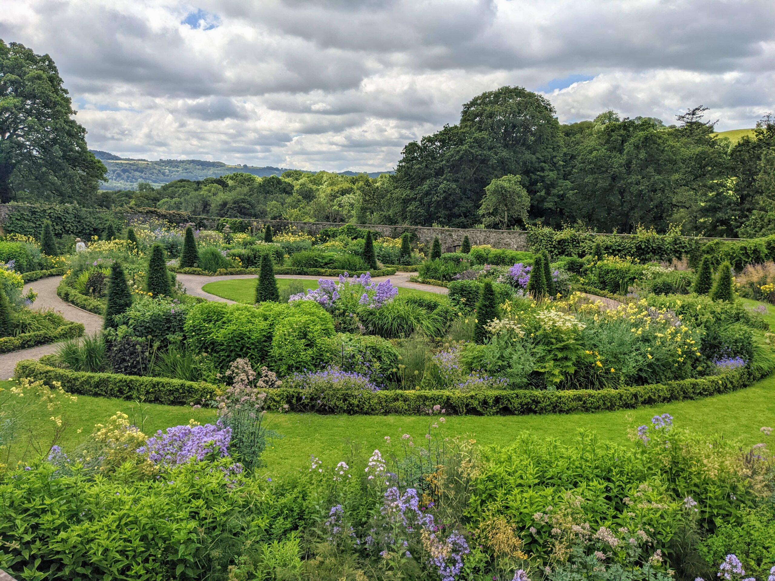 Aberglasney Gardens Courtyard Lawn